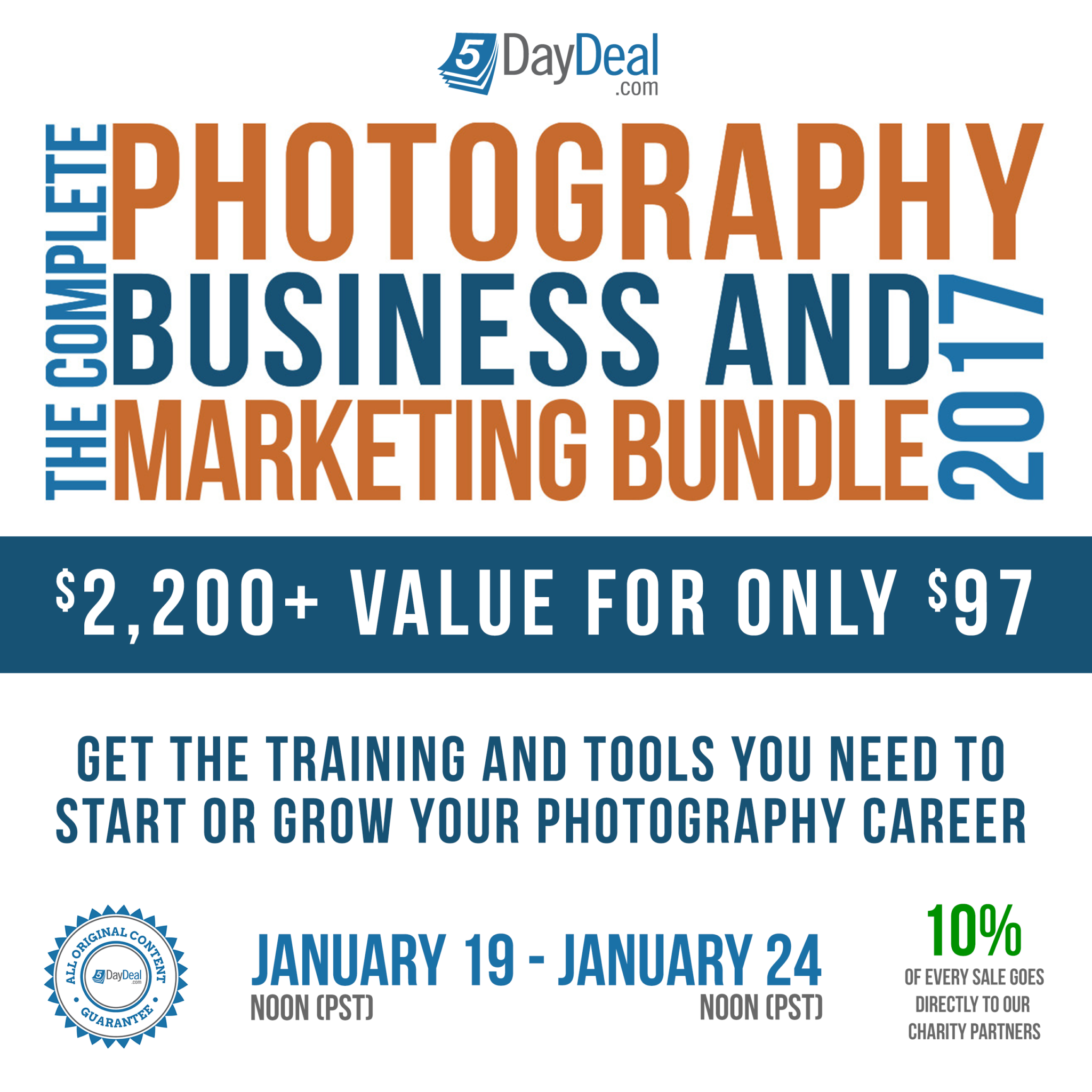 Get $2,700 in Photography Education for $97; Proceeds Go to Charity