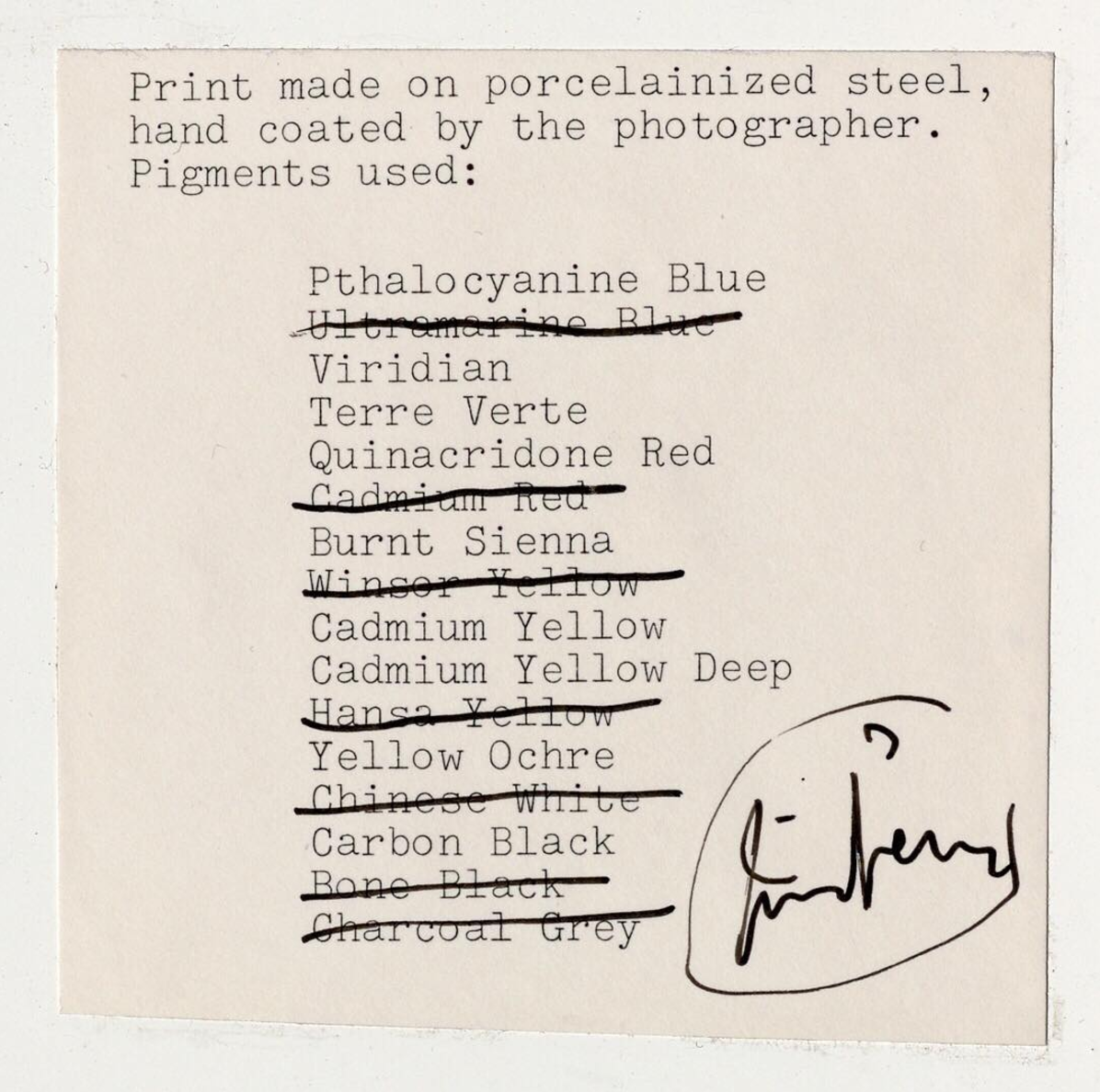 Irving Penn's Notebook B3 Details His Experiments With Print Making