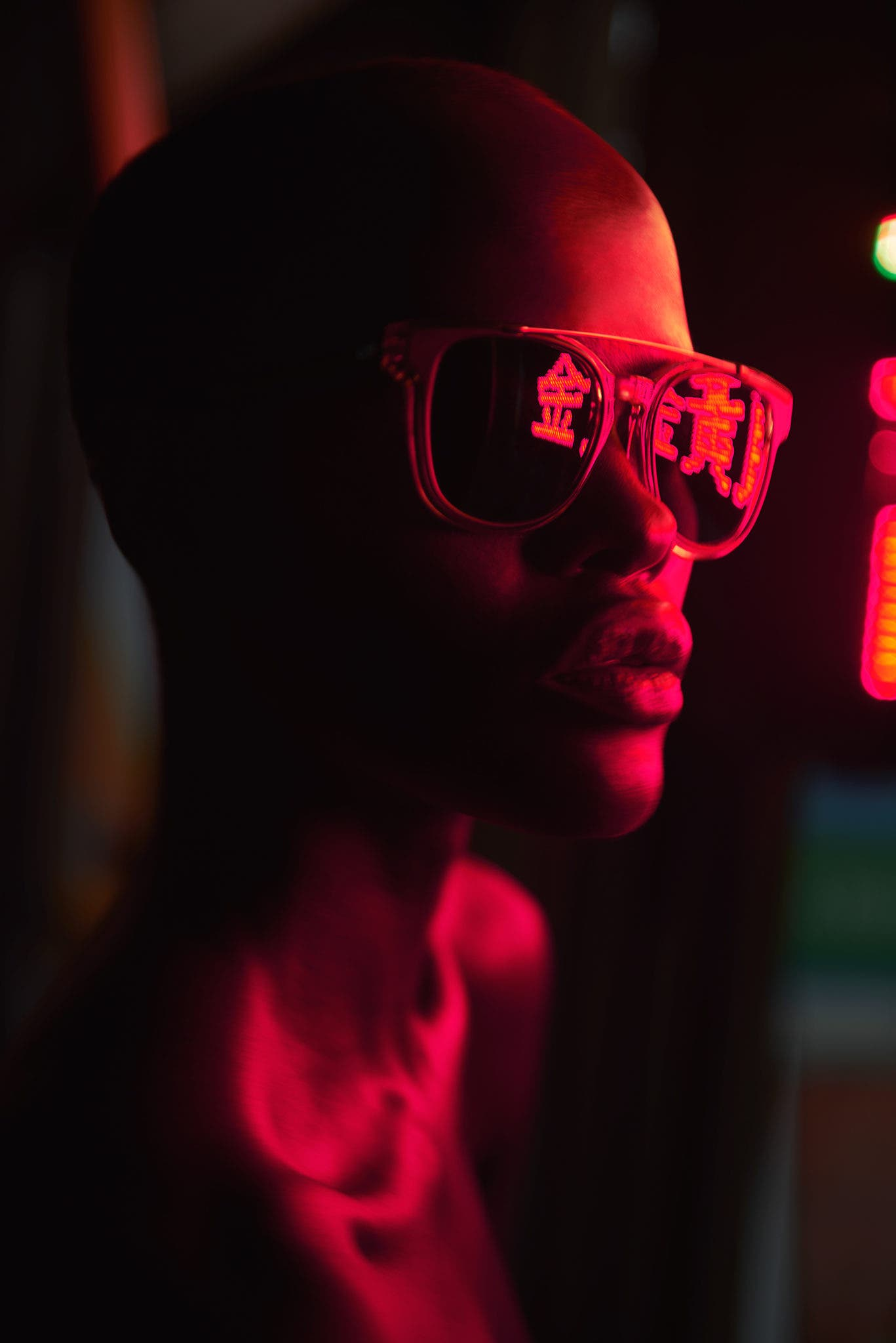 Mathew Guido's Eye Candy Plays With Neon Lights And Stylish Sunglasses