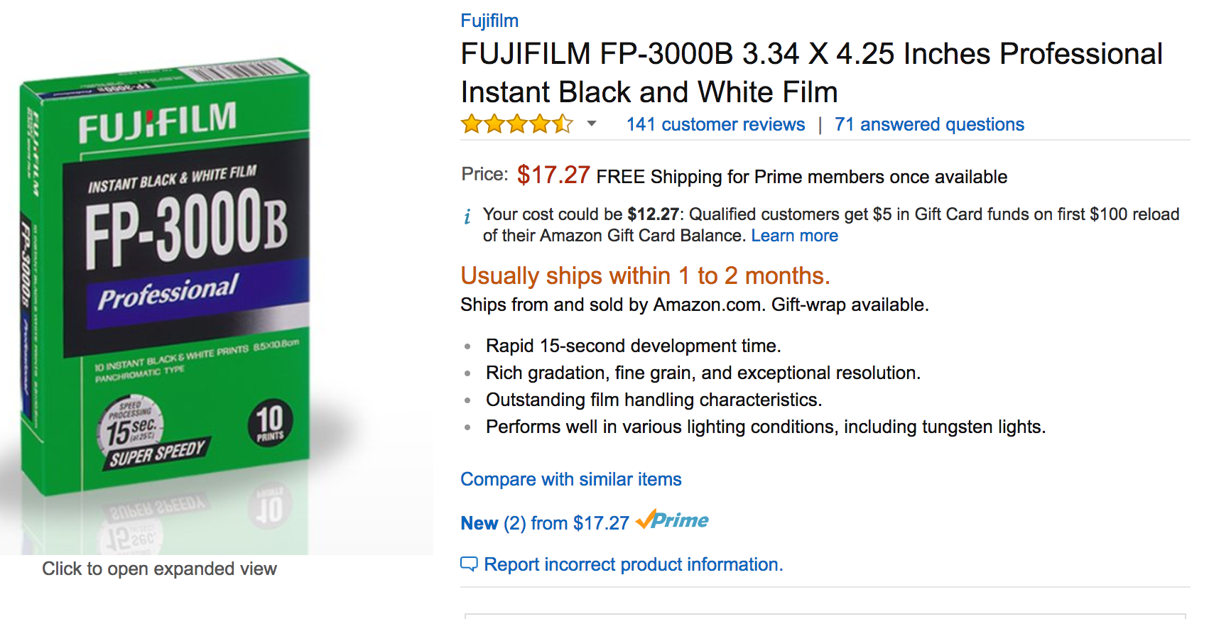 Deal Alert: Fujifilm FP-3000B Is $17.27 on Amazon Right Now