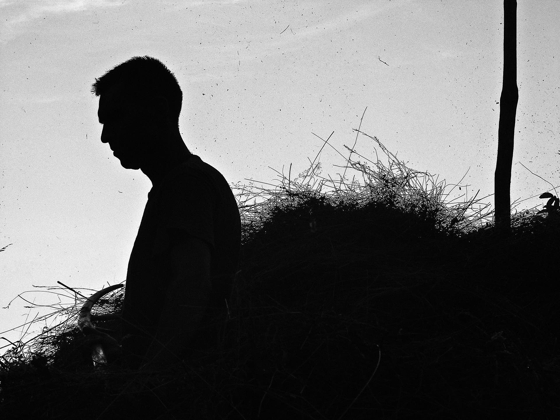 Una Salimovic's Messing With Hay Plays With Silhouettes in Black and White