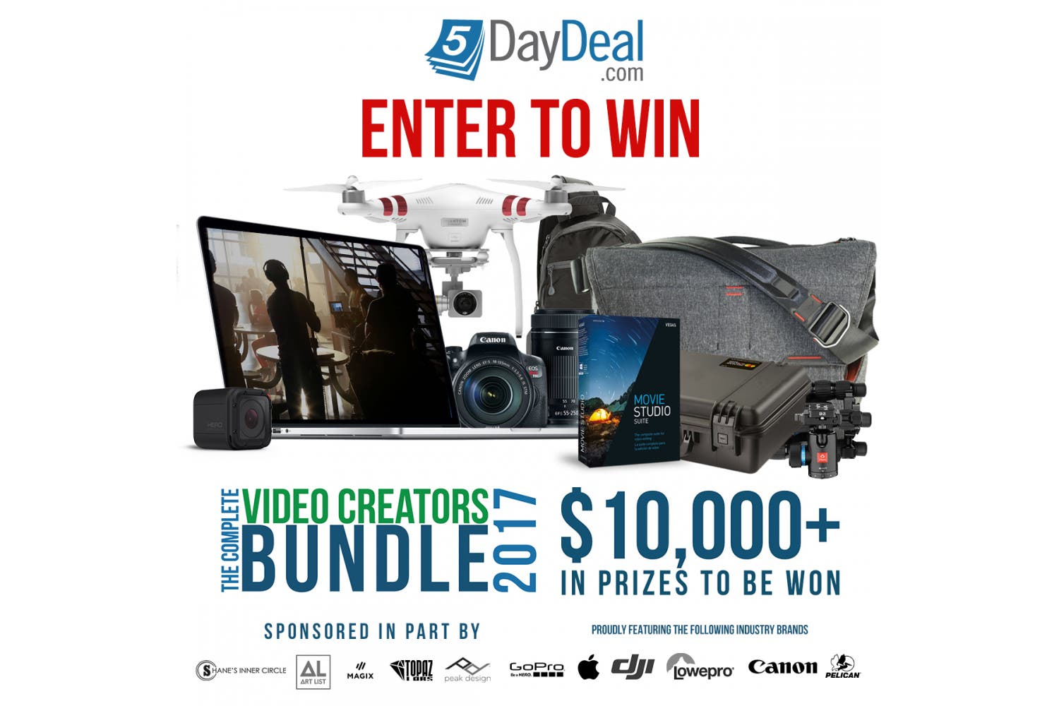 You Could Win $10,000 In Prizes From Our Friends At 5DayDeal