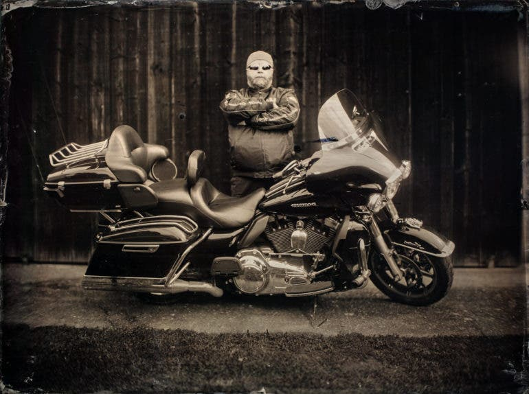 A 6000W Light Meets Harley Davidson and a 12 × 16 inch Wet Plate