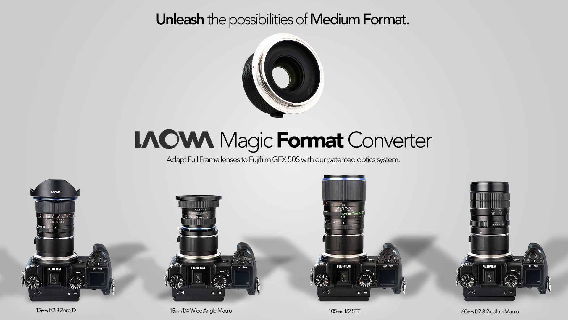 The Laowa Venus Optics Magic Format Converter Increases the Imaging Circle for Full Frame Lenses to Fujifilm GFX
