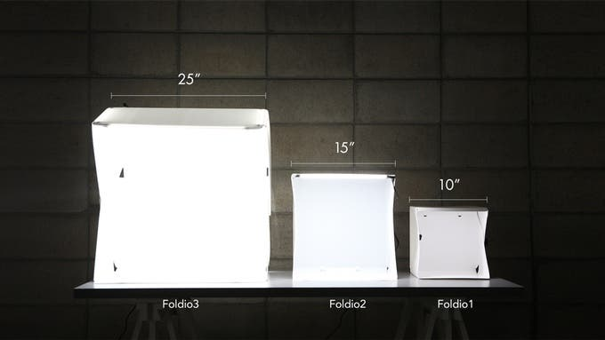 The Foldio 3 Has Eight Cubic Feet of Photography Space That Folds Down to Less Than 3 Inches Flat