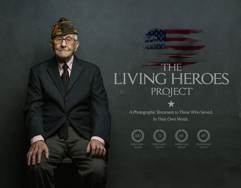 The Living Heroes Project: A Portrait Photo Project of WWII and Vietnam Veterans