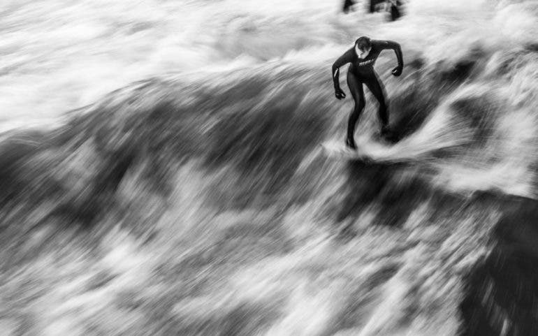 Skander Khlif's Black and White Images of The Surfers of Munich