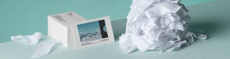 Moos latest business cards are made from cotton reheart Image collections