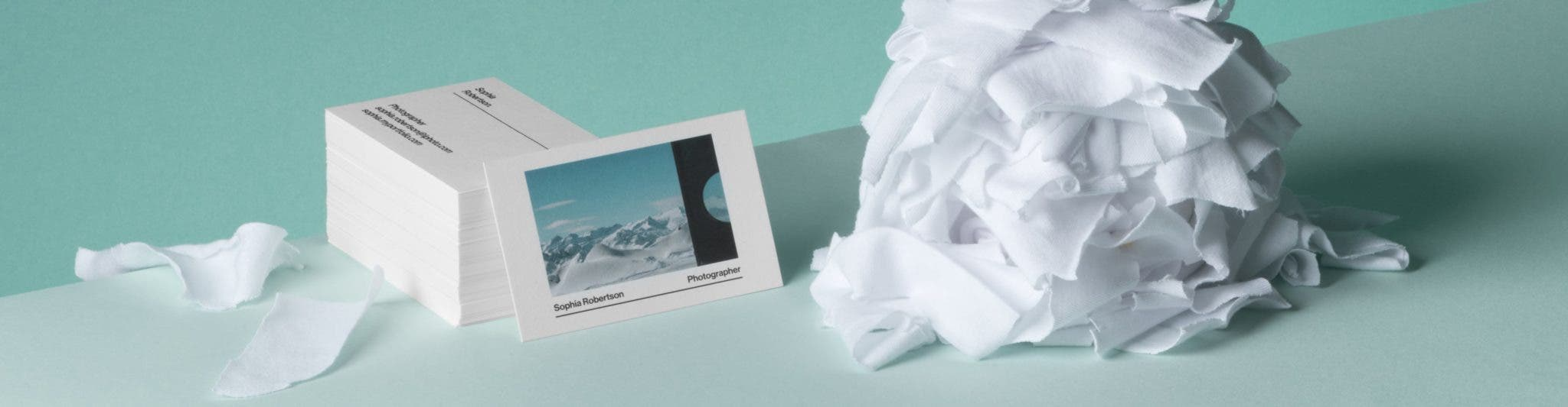 Moo's Latest Business Cards are Made From Cotton