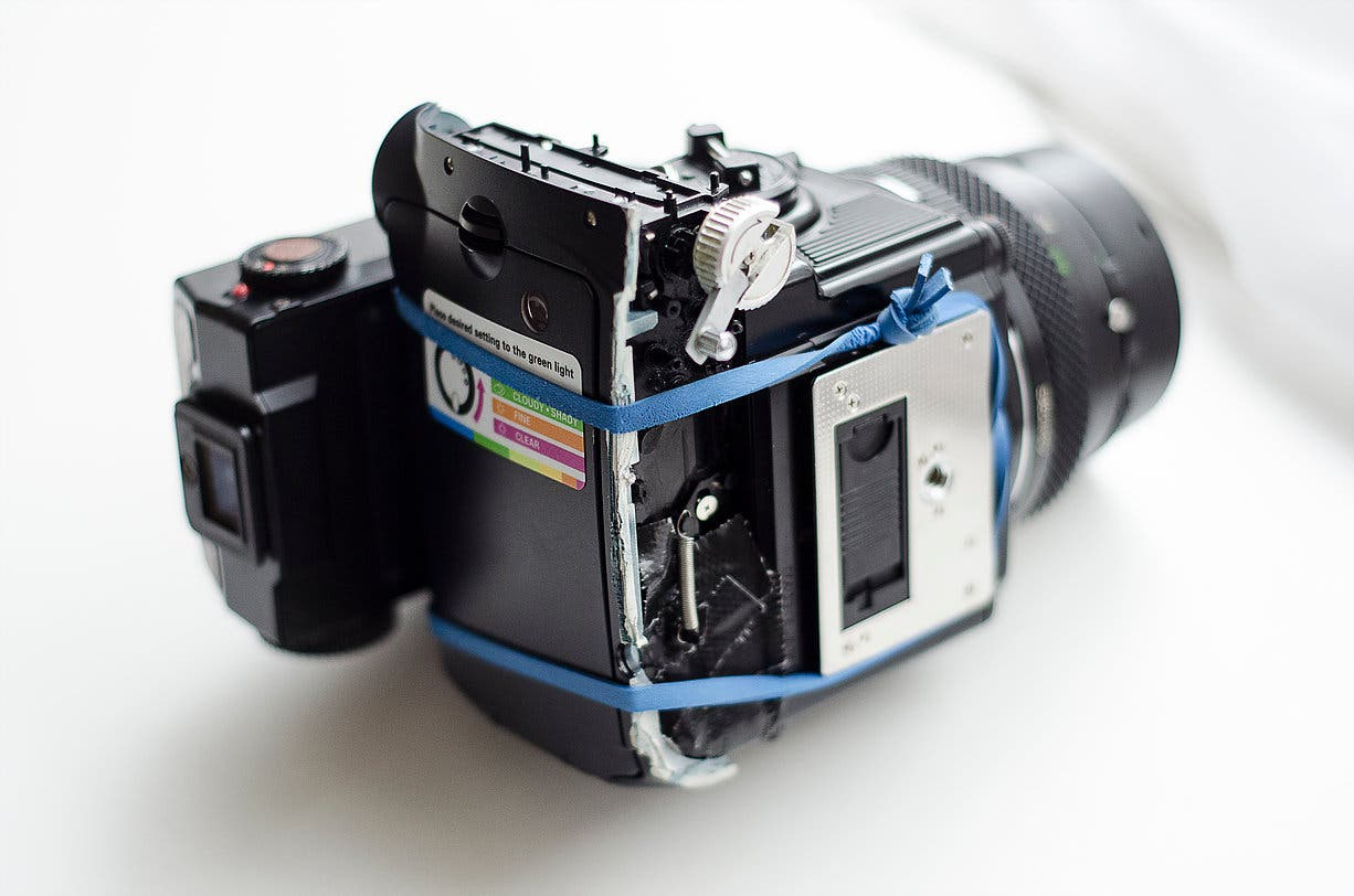 Brock Saddler Shows You How to Hack the Bronica ETRS to Shoot Fujifilm Instax Mini Film