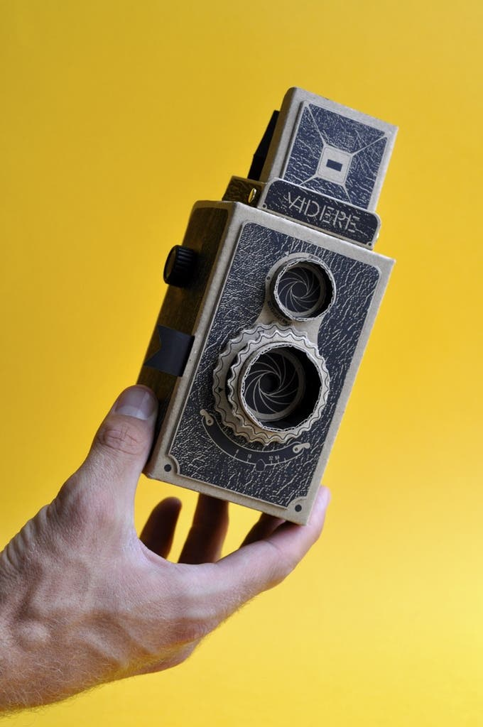 Shoot Pinhole Photos With the Videre 35mm Cardboard TLR Camera
