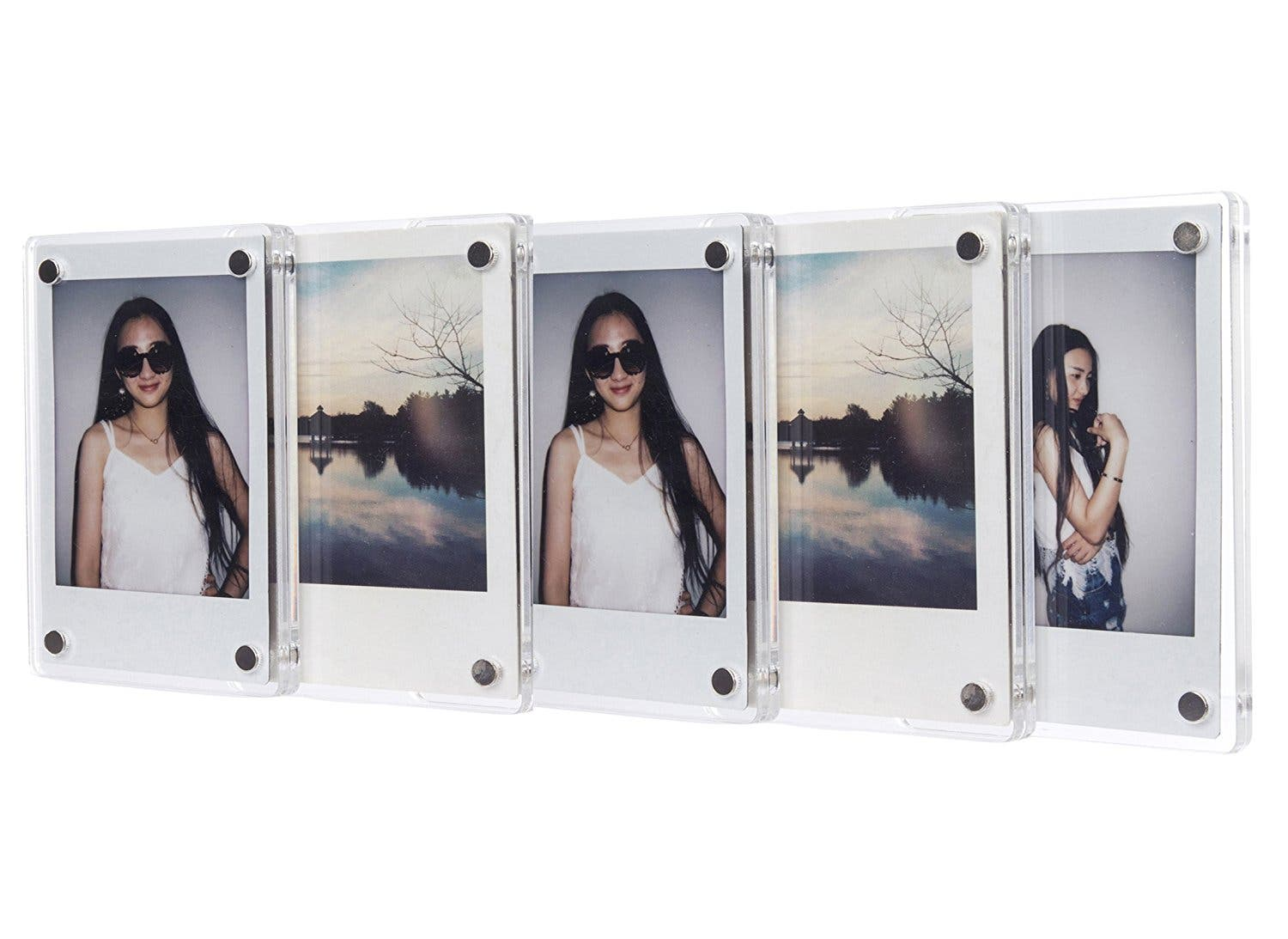 Display Your Instax Photos with CAIUL Clear Acrylic Photo Magnet Frame