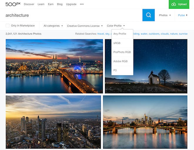 500PX Announces New Wide Color Gamut and Google WebP Format For Images