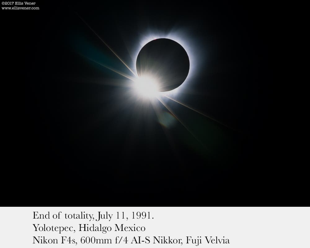 Photographing the Total Eclipse: Tips from My Last One in 1991