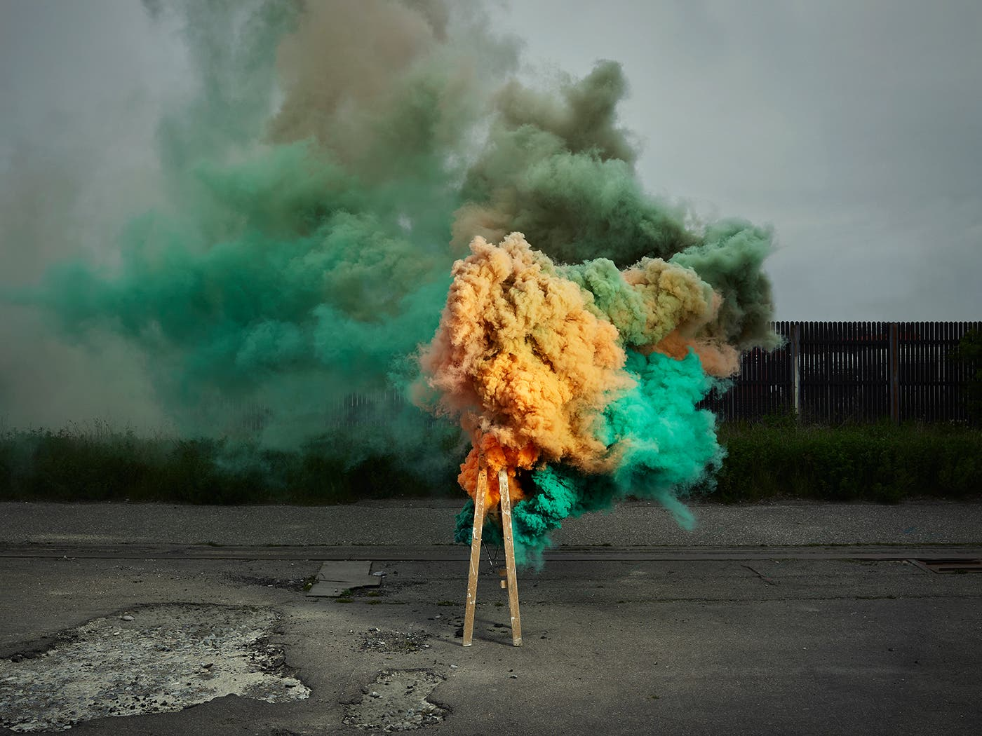 Ken Hermann's Smoke is an Eye-Catching Explosion of Color