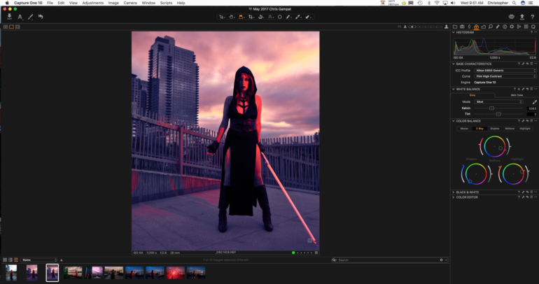 Editing the Same Photo in Capture One Pro 10 and Lightroom Classic CC