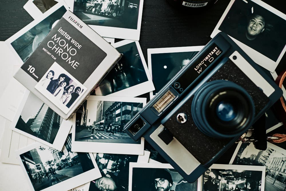 instant film review  fujifilm instax wide monochrome
