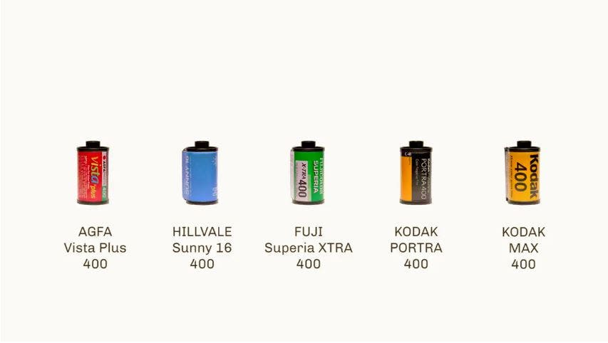 A Quick Comparison of Today's Favorite ISO 400 Color Films