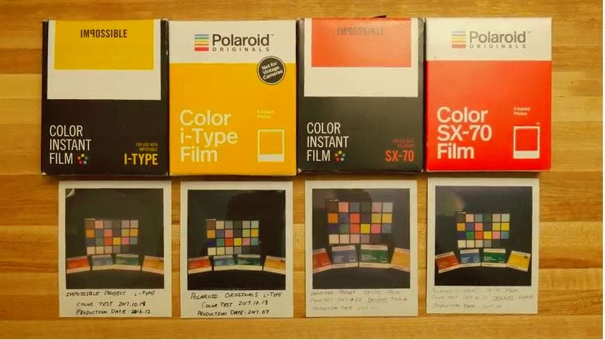 Film Test Shows Greatly Improved New Polaroid Originals Color Films