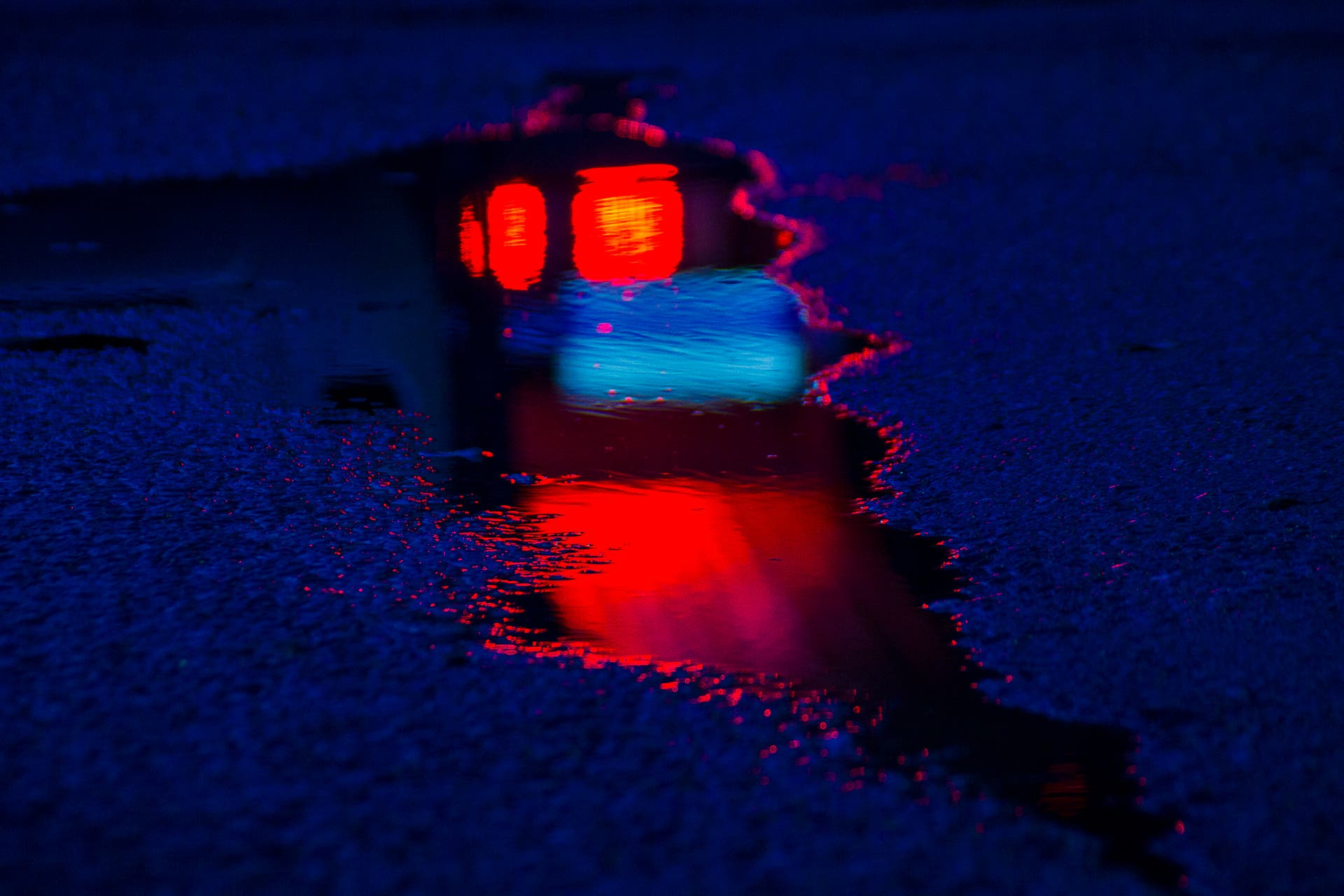 "Slava Semeniuta Captures Puddles of Color in ""Wet Neon"""
