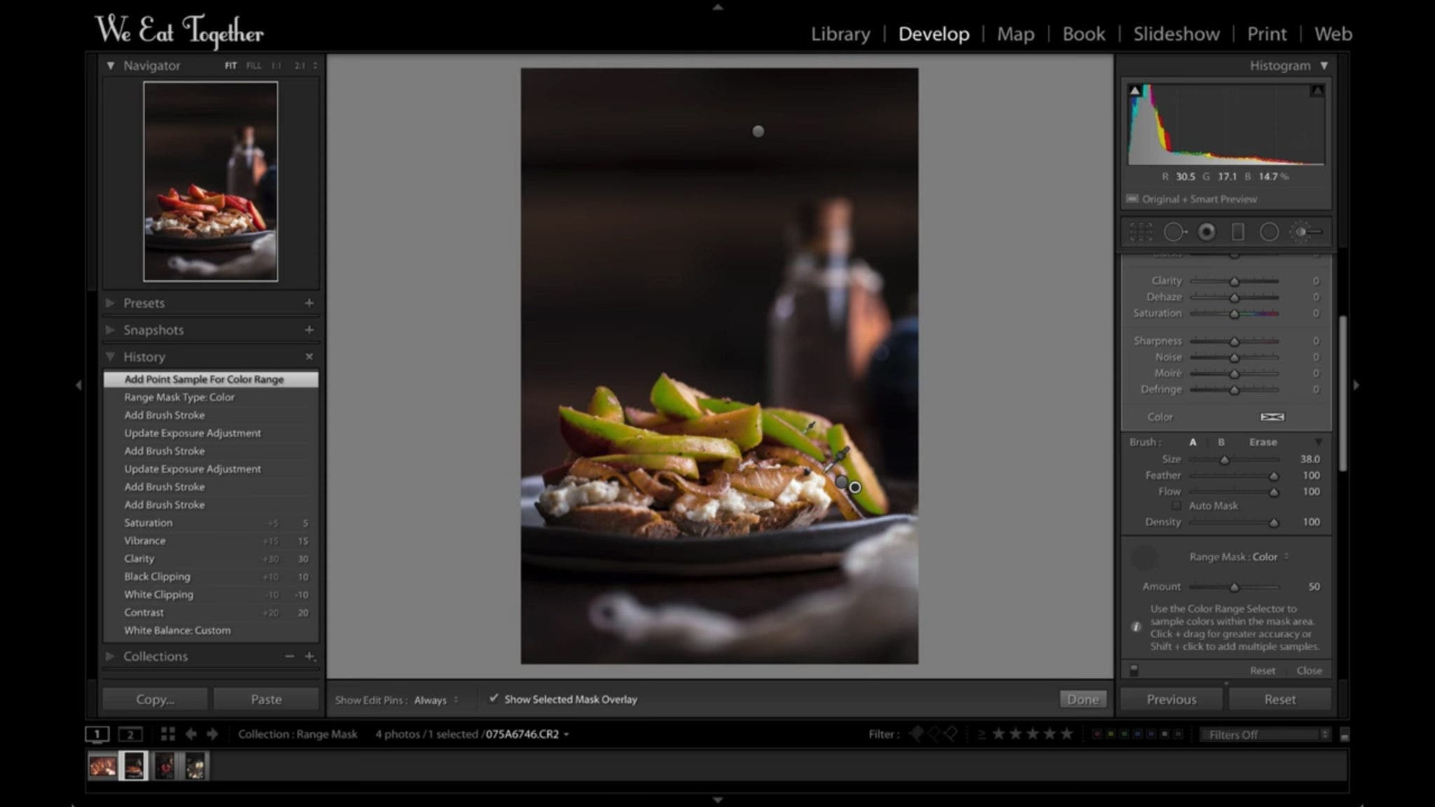 Lightroom's Range Mask Tool Is Amazing For Food Photographers