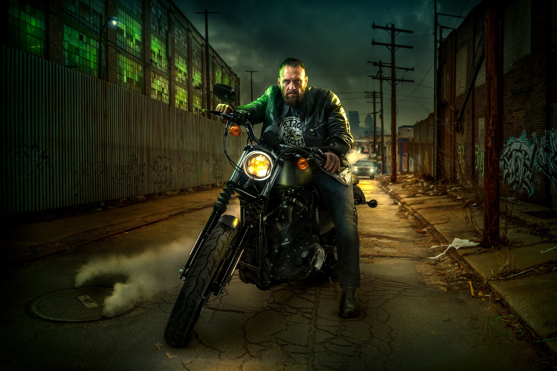 Chris Clor Gives a Cinematic Look to His Harley Davidson Concept Work