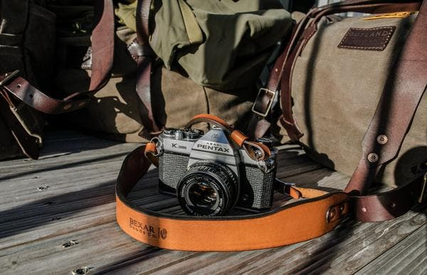 The Bexar Vagabond Leather Strap Lets You Lug Your Camera in Style