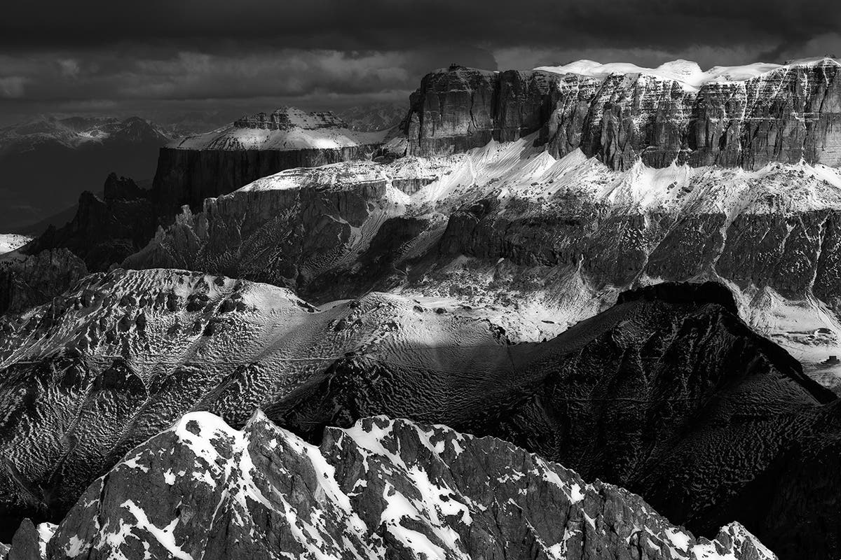 Przemyslaw Kruk's Captivating Black and White Photos of the Dolomites