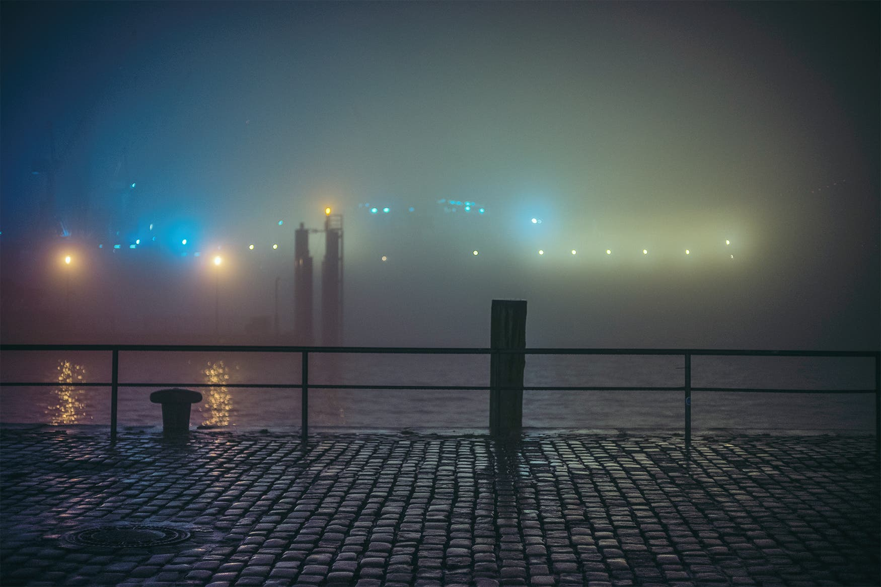 Mark Broyer Takes Us on a Misty Night Stroll Around Hamburg's Harbor
