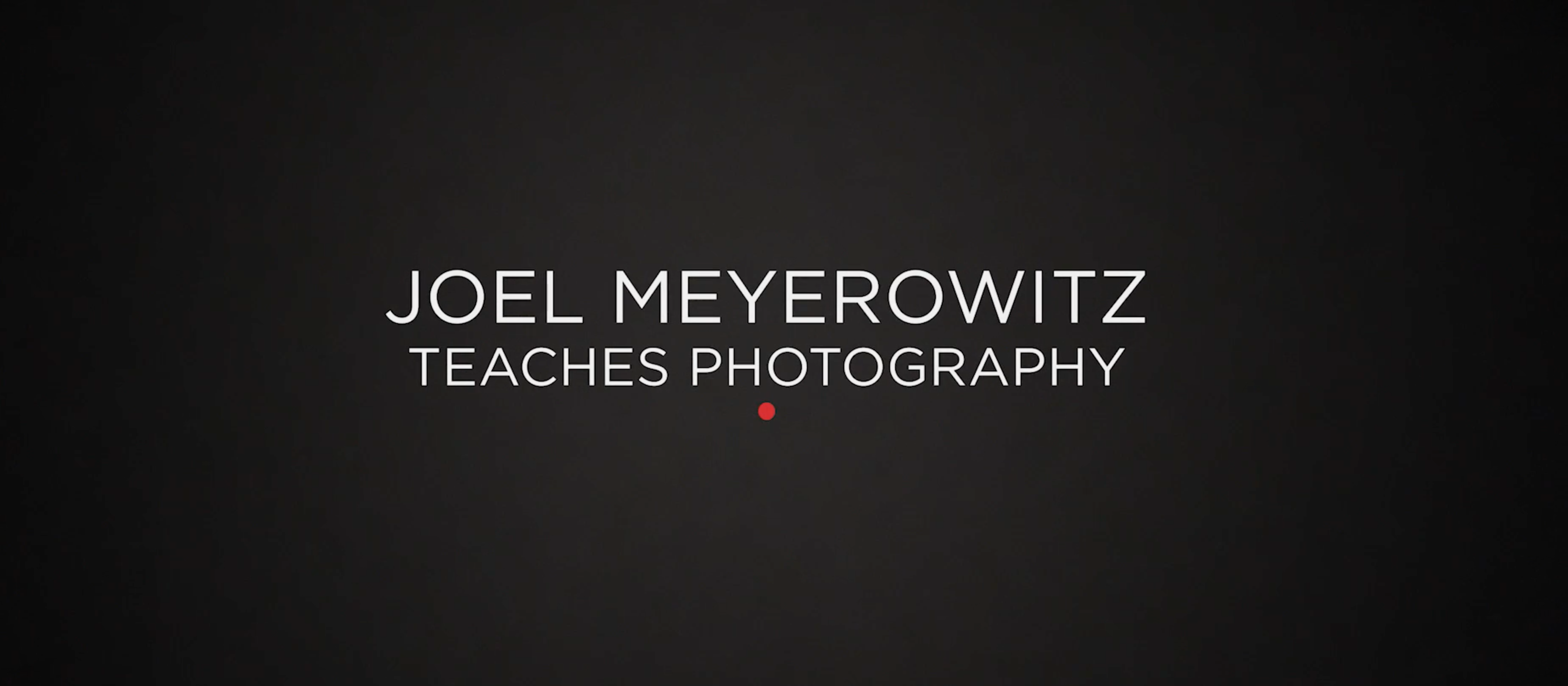 Review: Masters of Photography: Joel Meyerowitz