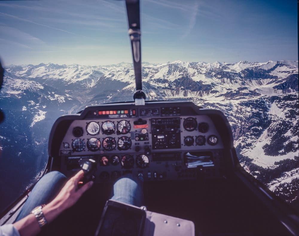 This Photographer Shot a Large Format Camera While Flying in a Plane as Part of a Bet