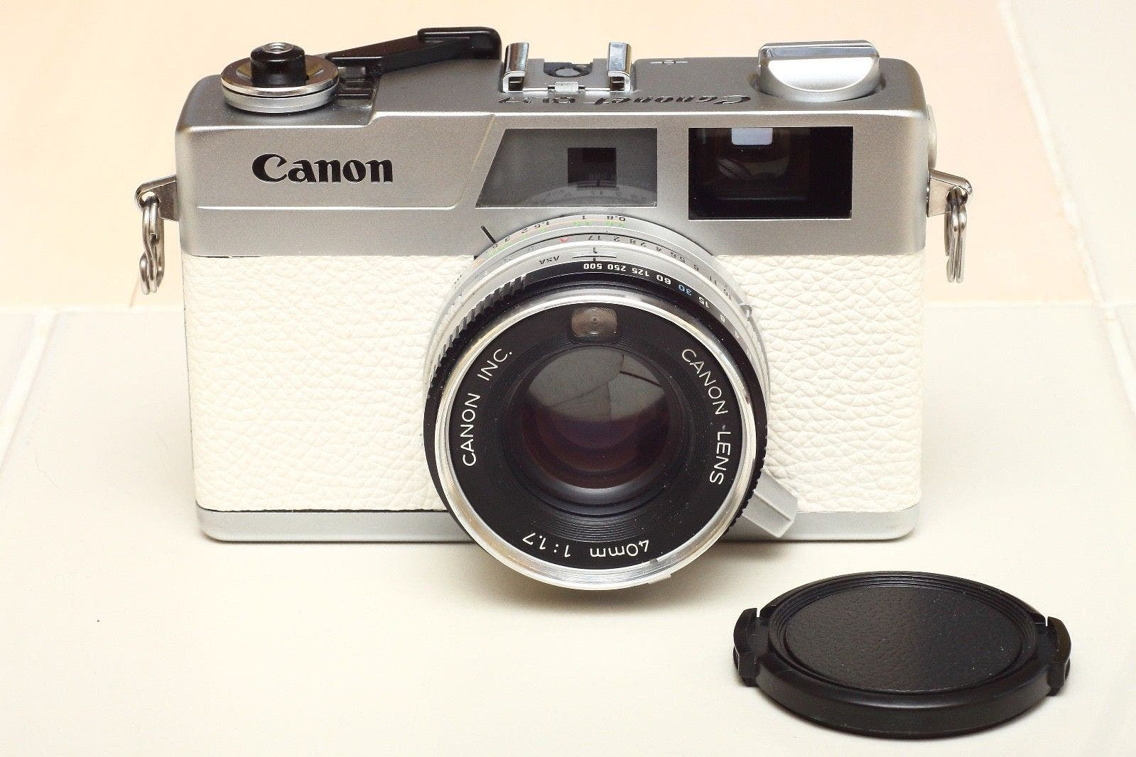 The Canonet G-III QL-17 in Gorgeous White Leather Will Make You Drool