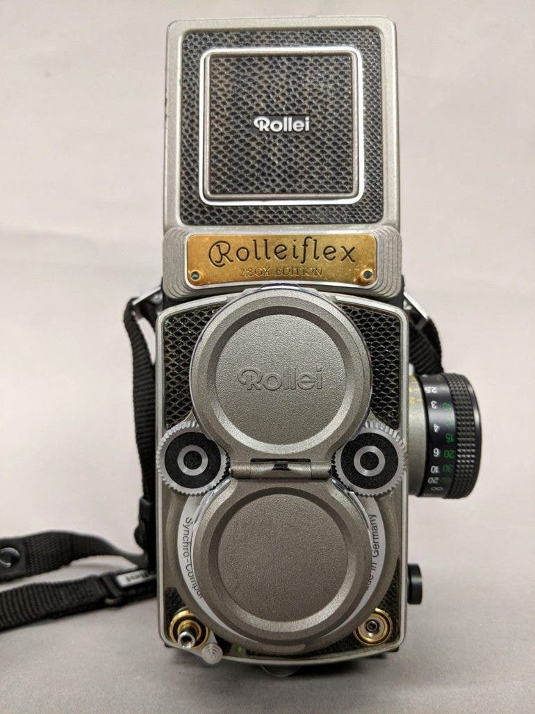This Special Edition Rolleiflex 2.8 GX has a Gold-Plated Nameplate