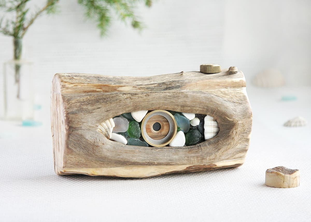 Sergey Lebedev Handcrafts Unique Pinhole Cameras Using Driftwood