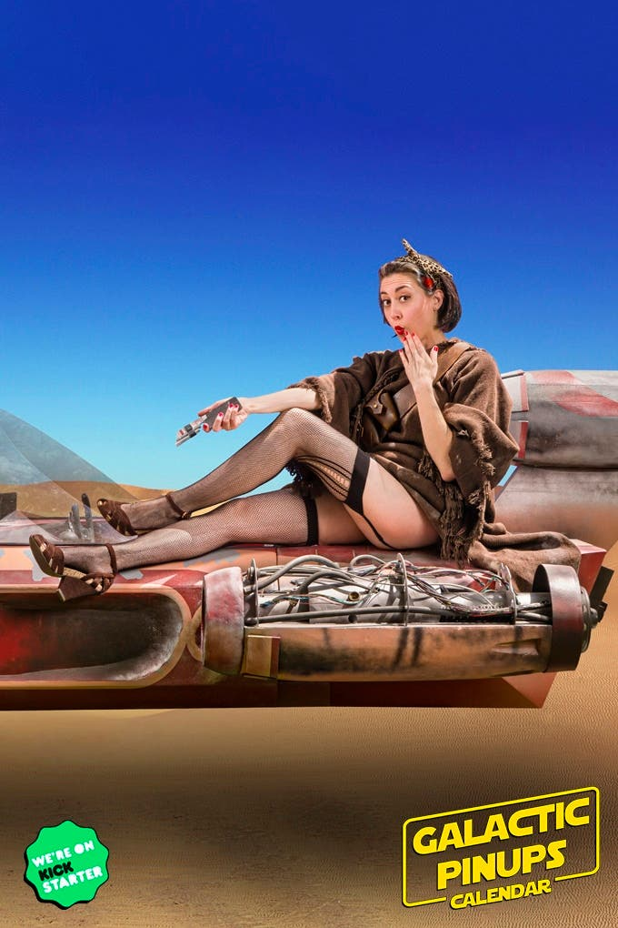 This Fun 2019 Pinup Calendar Features Our Favorite Characters from a Galaxy Far, Far Away