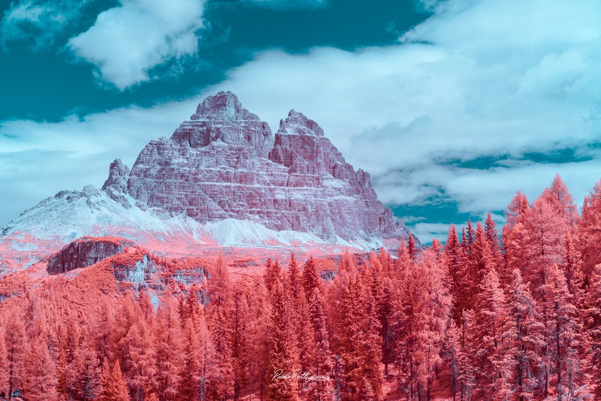 Paolo Pettigiani Captures the Stunning Dolomites and Its Surrounds in Infrared