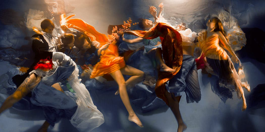 Christy Lee Rogers Makes Baroque-Inspired Underwater Masterpieces