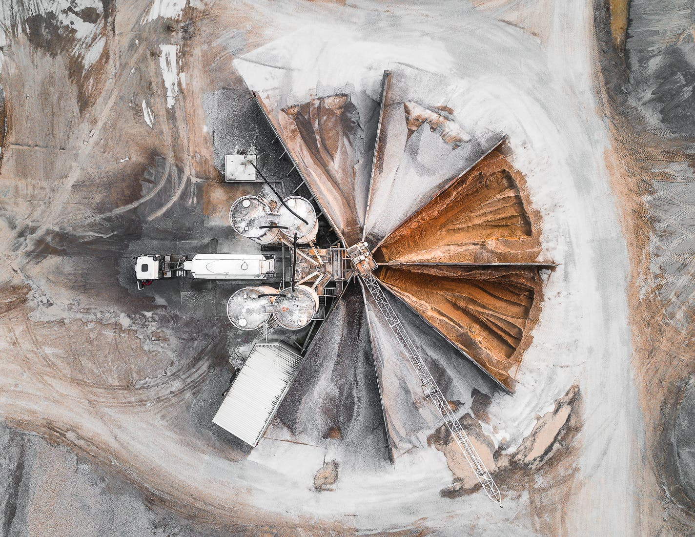 Quarries Resemble Abstract Artworks in Tom Hegen's Aerial Photography