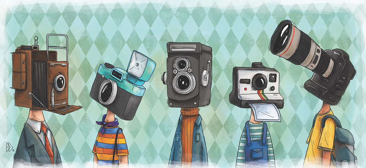 'Camera Lives' Is a Cheeky Illustrated Portrait Series Depicting Popular Cameras as People