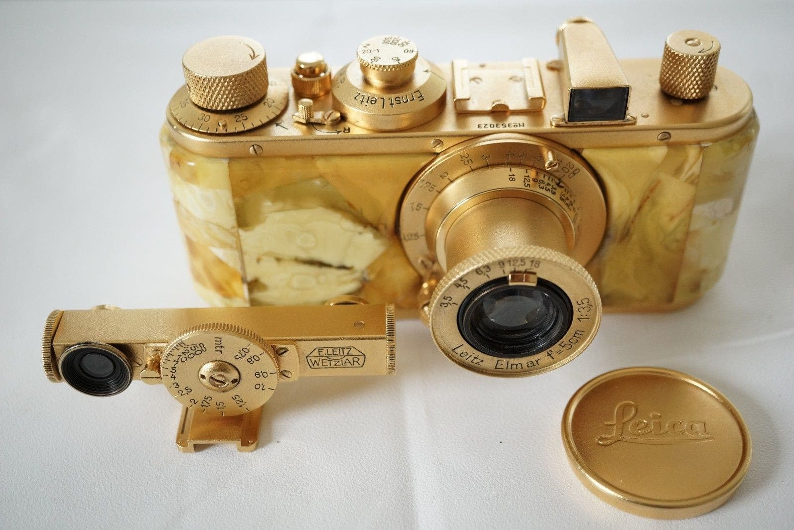 This Gold-Plated and Amber-Covered Leica Standard is Yours for $3,500