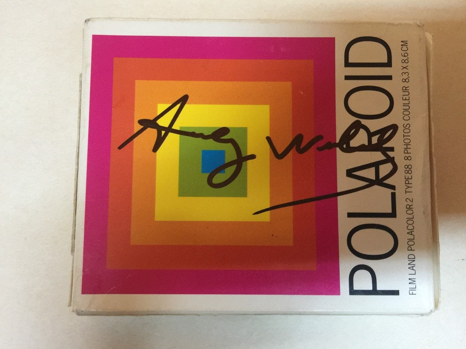 This Nearly $7,000 Pack of Polaroid Film was Signed by Andy Warhol