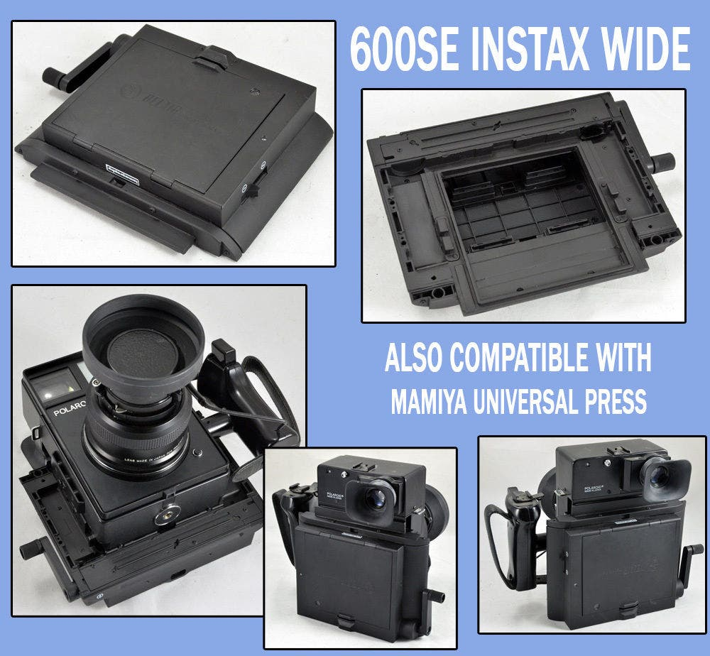 There's a Super Rare Instax Wide Back for Mamiya Universal Cameras on eBay Right Now