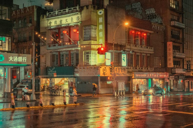 Ludwig Favre Captures the Glow of New York Chinatown Just Before Dawn
