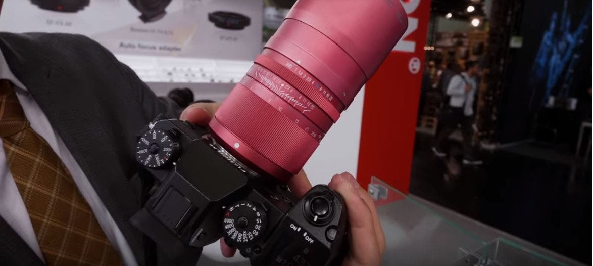 This Kipon Ibelux 40mm f0.85 Lens is an Absolute Bokeh Machine — in Pink