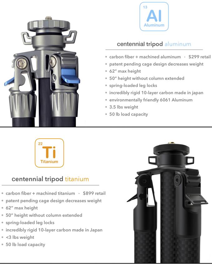 titanium tripods