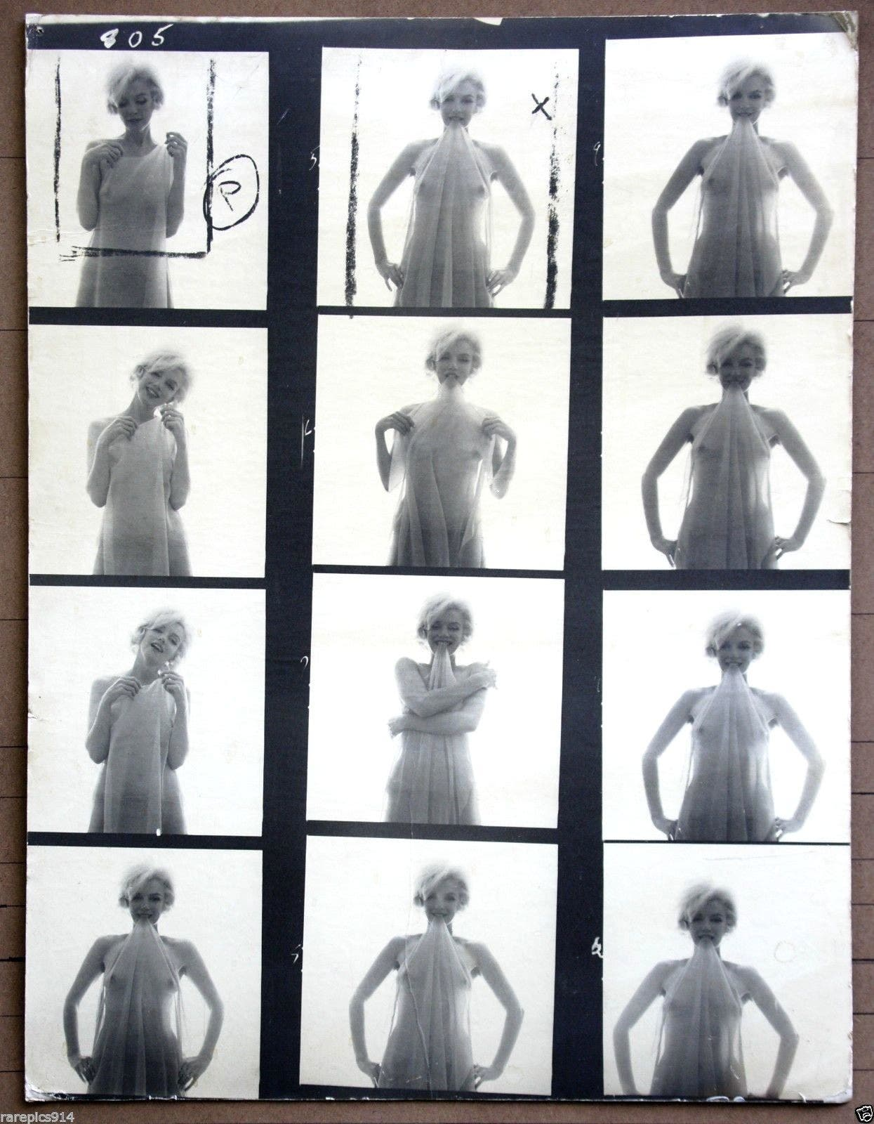 This Original Contact Sheet of Marilyn Monroe's Last Sitting Costs $195K