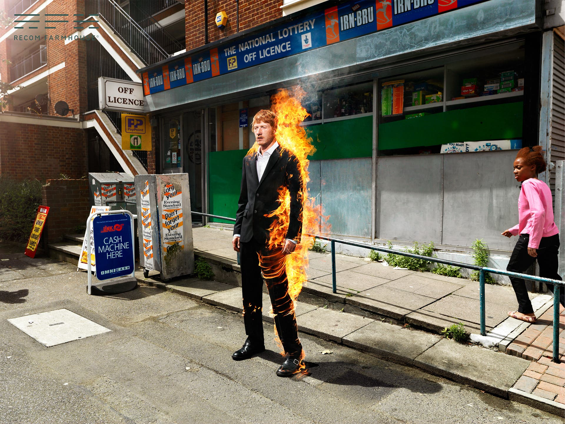 """Holger Pooten and Recom Farmhouse Stage the """"Fireman"""" in East London"""