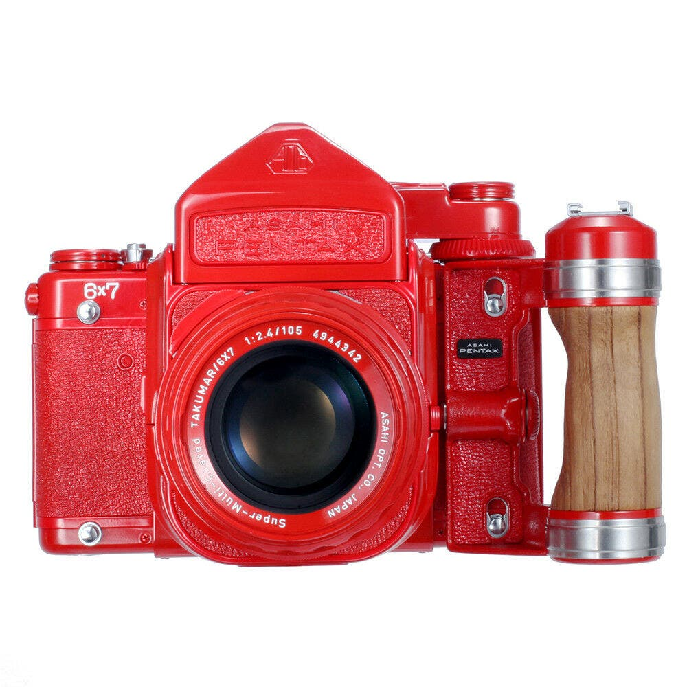 This $2099.00 Red Repainted Pentax 6×7 Will Make You Cringe