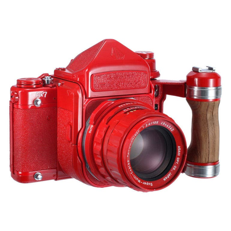 This $2099 00 Red Repainted Pentax 6x7 Will Make You Cringe