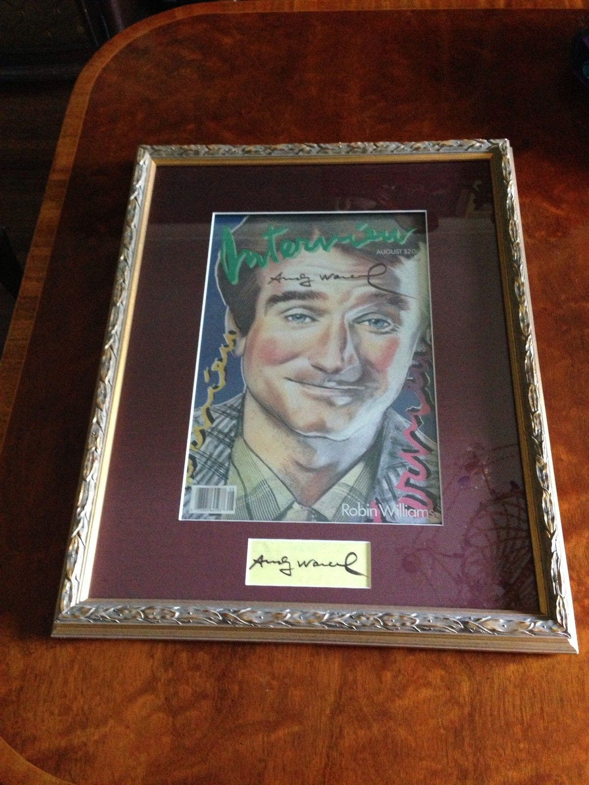 This Signed Andy Warhol Cover of Robin Williams Costs Over $1,000,000